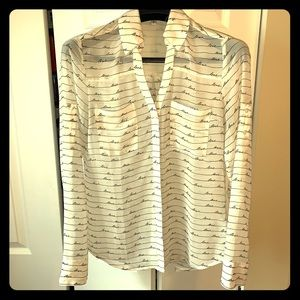 Express sheer blouse with love